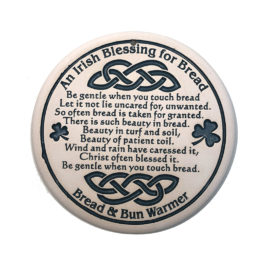 Irish Blessing Ceramic Bread Warmer