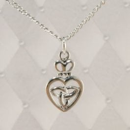 Celtic Heart Silver Pendant  - J-SP11797