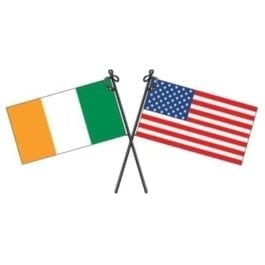 Ireland/USA Flag Sticker